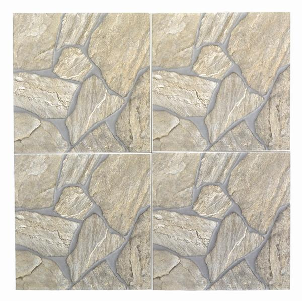 Gray Rocks Ceramic Tile 18x18*