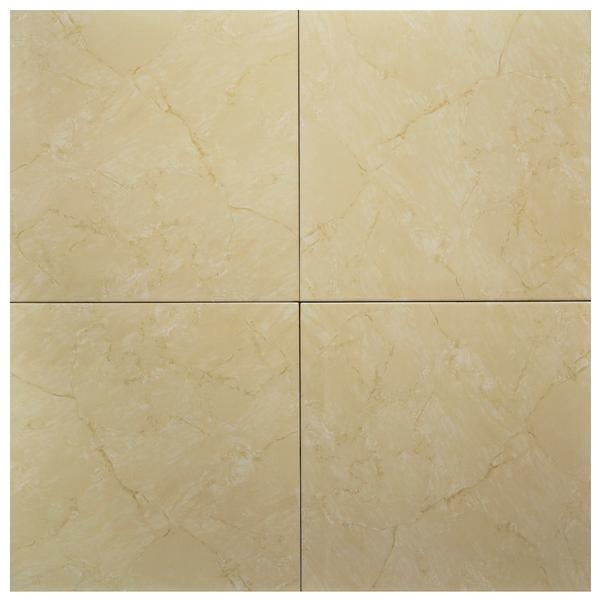 Beige Super Glossy Ceramic Tile 18x18*