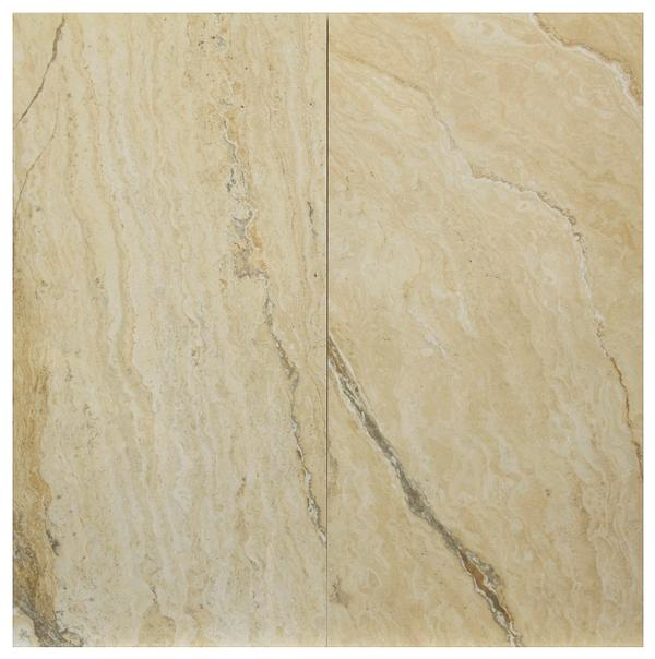 Vezio Beige Polished Porcelain Tile 12x24