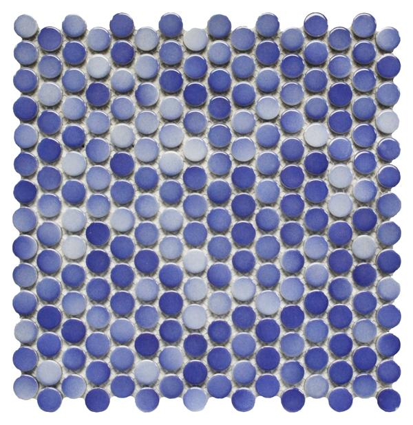 Light Blue Penny Round Mosaic