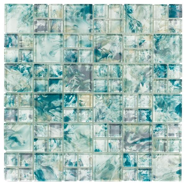 Michelangelo Turquoise Glass Mosaic