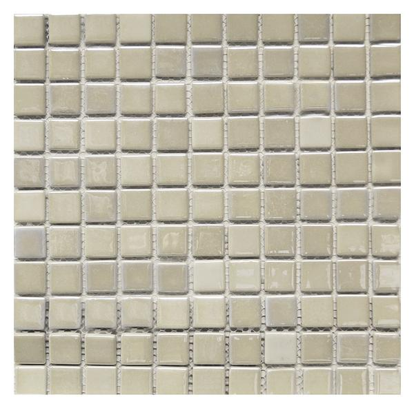 Ecoiris Off White 1x1 Glass Mosaic 12x12