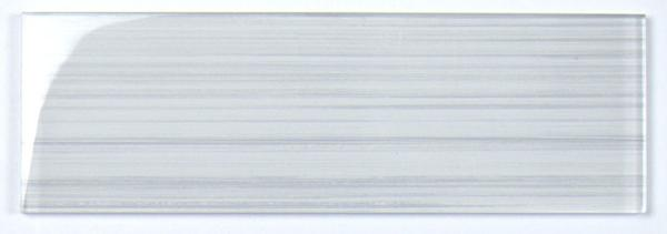 Strips Snow White Glass Tile 4x12