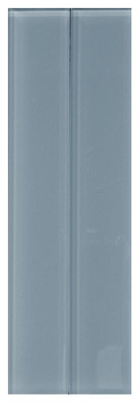Clear Metro Blue Glass Tile 2x12