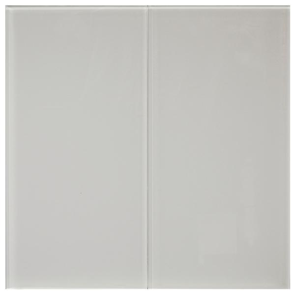 White 8 mm Glass Tile 8x16