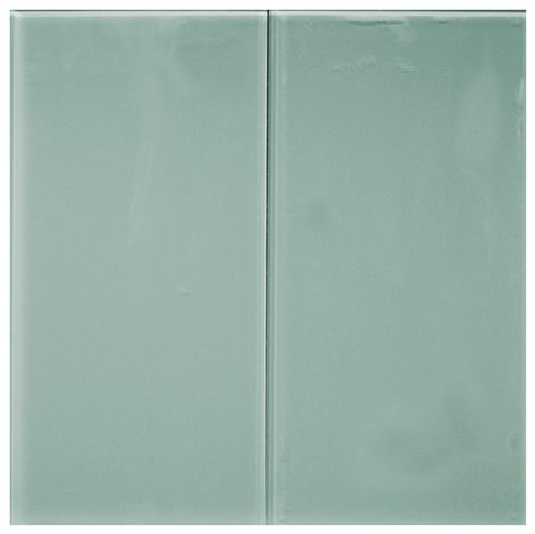 Aqua 8 mm Glass Tile 8x16