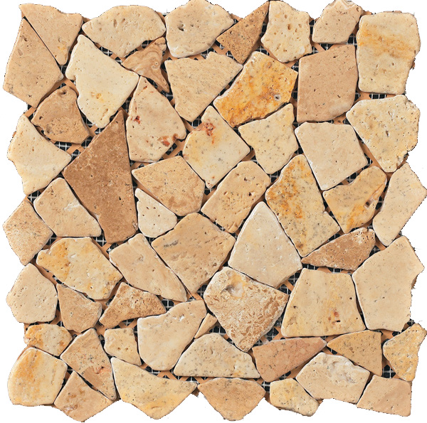 Marmol Chiaro Travertine Mosaic 12x12
