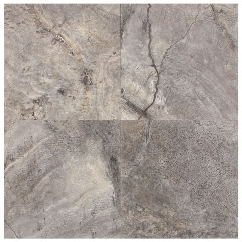 Silver Travertine Honed & Filled 18x18