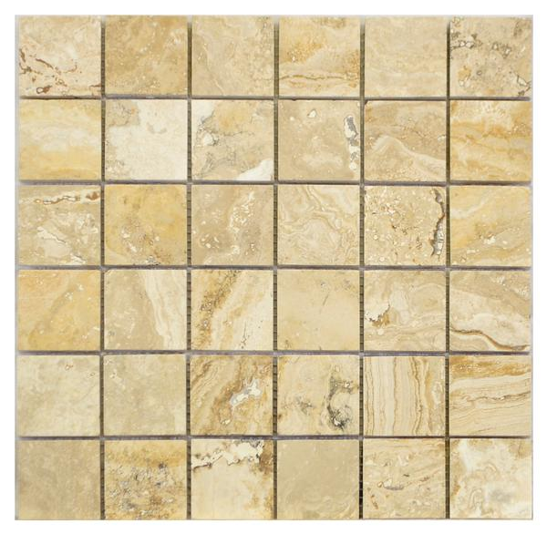 Valencia Travertine 2x2 Honed & Filled Mosaic