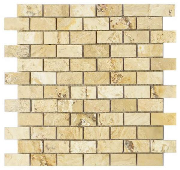 Valencia Travertine 1x2 Honed & Filled Mosaic