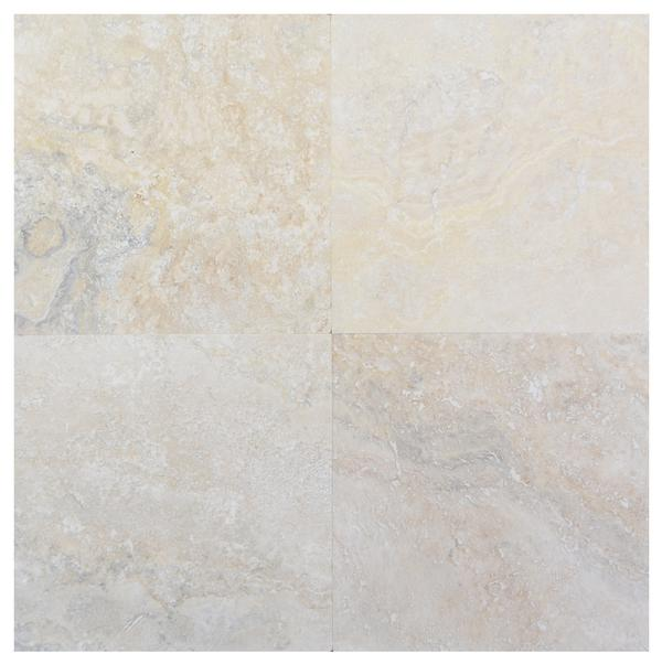 Cascade Antique Honed and Filled Travertine Tile 18x18