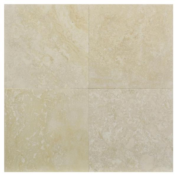 Ivory Cream River Honed & Filled Travertine 12x12