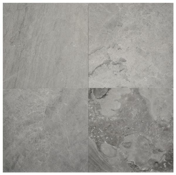 Silver Grey Marble Polished 18x18
