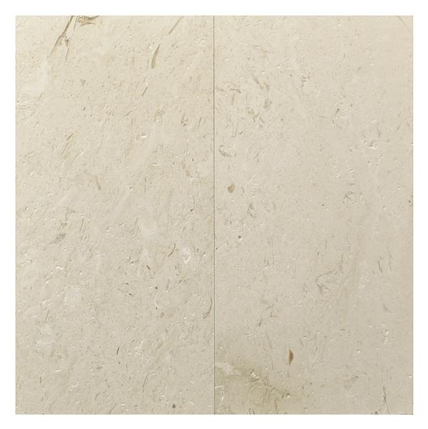 Shell Beige Marble Brushed Face/Straight Edge 12x24